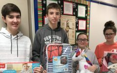 THS faculty and students once again donated over 30 gifts to local children as part of the Salvation Army's Treasure's for Children program. Thank you to all who helped to make a child's wish come true this holiday season! Pictured from left to right: Mick Ryan, Connor Bull, Marah Pegram, and Grace Prowitt.