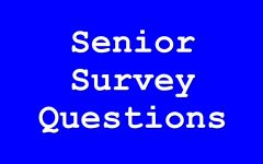 Senior Survey Questions