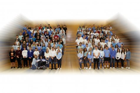 In November of 2019, the Class of 2020 stood together to take the traditional senior class photo for the yearbook.