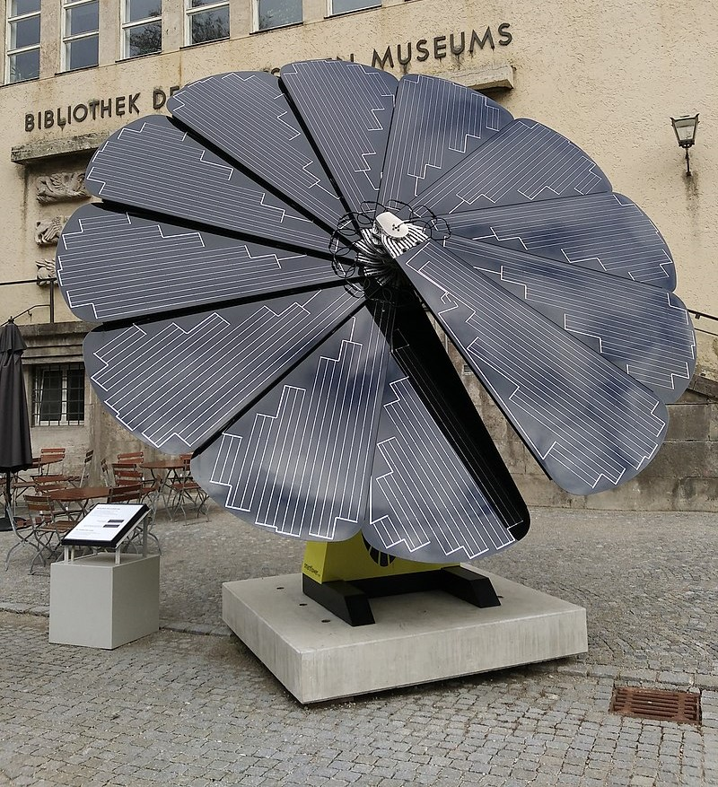 Pictured+above+is+a+solar+flower+similar+to+the+one+to+be+installed+at+Trinity+High+School.