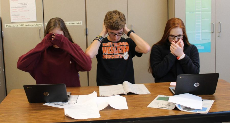 Students succumb to the stress of applying to college.
