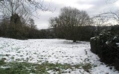 This picture shows the effect of climate change at Stag Hill and how quickly it melts snow.