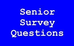 Senior Survey Questions