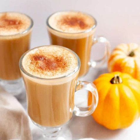 Pumpkin spice lattes typically contain pumpkin  spice, milk and espresso.