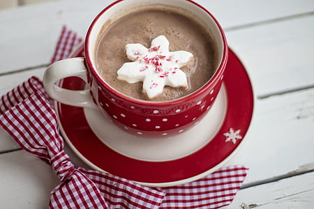 A warm cup of hot chocolate or coffee can be the perfect drink on a cold winter day.