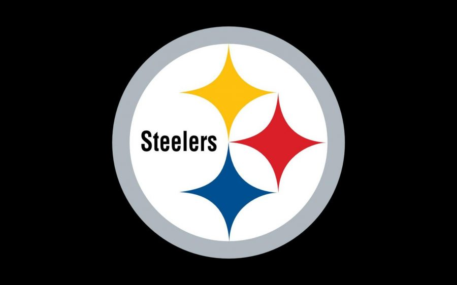The Steelers logo represents decades of history in the Pittsburgh area. The yellow diamond  stands for coal, the red for iron ore, and the blue for steel scraps.