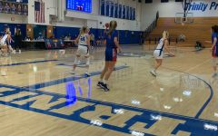 The Trinity Girls' basketball team engages Chartiers Valley in their streak ending game.
