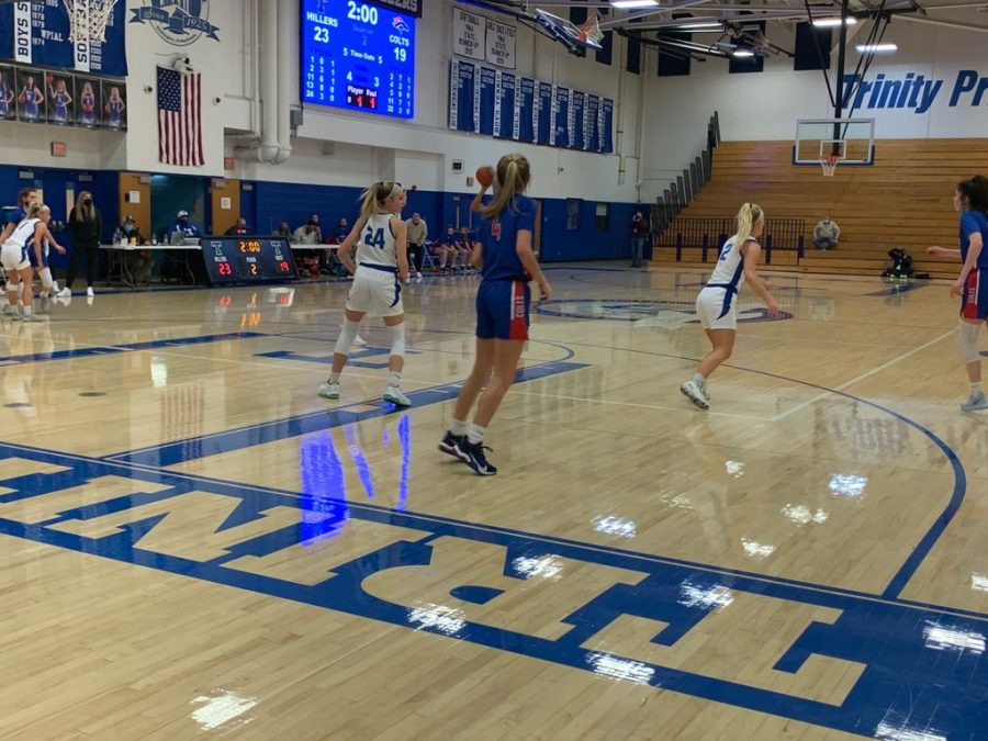 The+Trinity+Girls%27+basketball+team+engages+Chartiers+Valley+in+their+streak+ending+game.+