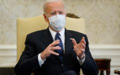 President Biden wears a mask at all of his meetings, conferences and television appearances to encourage others to prioritize public health safety.