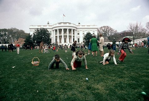 Children from all over the country participating in the well-known White House Easter Egg Roll!