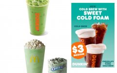 Head to McDonald's or Dunkin' Donuts now to get these limited time spring menu additions!